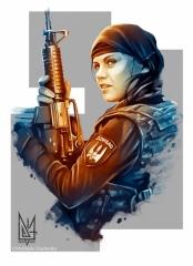 Девушка-стрелок из Донбасса