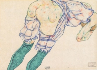 Girl with the Green Stockings, 1916