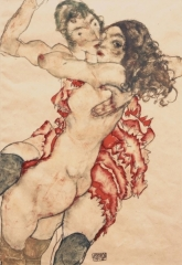 Two Girls Embracing (Two Friends), 1915