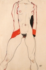 Standing Nude in Red Jacket, 1913