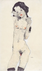 Black-Haired Nude Girl Standing, 1910,