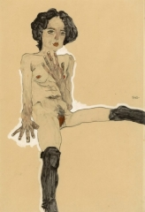 Seated Female Nude with Black Stockings, 1910