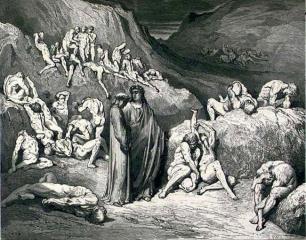 Данте и Вергилий среди фальсификаторов