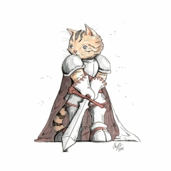 Knight American Wire Hair Tabby