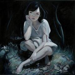 """Embrace"" Oil on wood panel 14"
