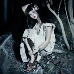 """""""Bruise"""" Oil on wood panel 16"""