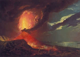 Vesuvius in Eruption, with a View over the Islands in the Bay of Naples