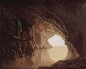 Cave at evening
