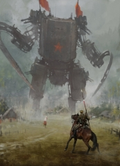 1920 - hammer and sickle. New painting from my 1920 project, I hope you like it, regards & watch out for the giant robots :)