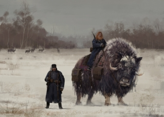 Bjorn & Bodil. I would like to introduce you a giant musk-ox, special animal from 'Nordic Kingdom' fraction