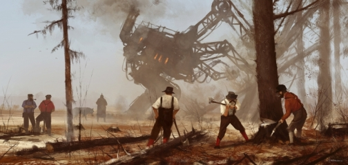 1920 - machine over muscle.  Another 'objective cards' illustration from Scythe game and my 1920+ series, cheers!