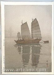 Sailing Boats in the Mist - Inland Sea