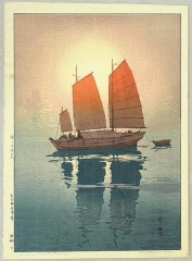 Sailing Boats in the Morning - Inland Sea