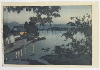 Evening on the Chikugo River in Hita