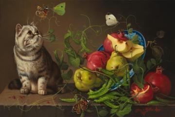 Cat and The Peastalk