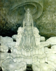 Snow Queen on Her Throne of Ice