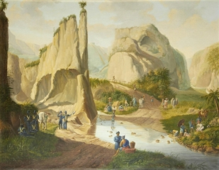 A landscape in the Dutch East Indies