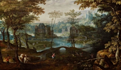 Landscape with Latona Turning the Lycian Peasants into Frogs