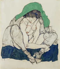 Crouching Woman with Green Kerchief, 1914