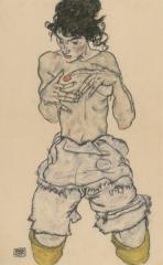 Kneeling Semi-Nude, 1917
