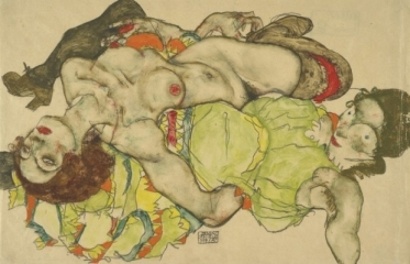 Two Girls Lying Entwined, 1915