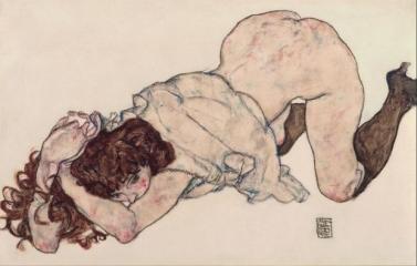 Kneeling Girl, Resting on Both Elbows, 1917,