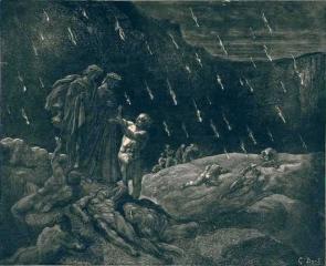 Данте и Вергилий с Брунетто Латини