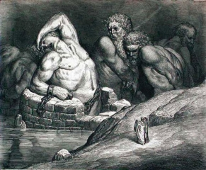 Вирджил указывает на Эфиалитов и других гигантов